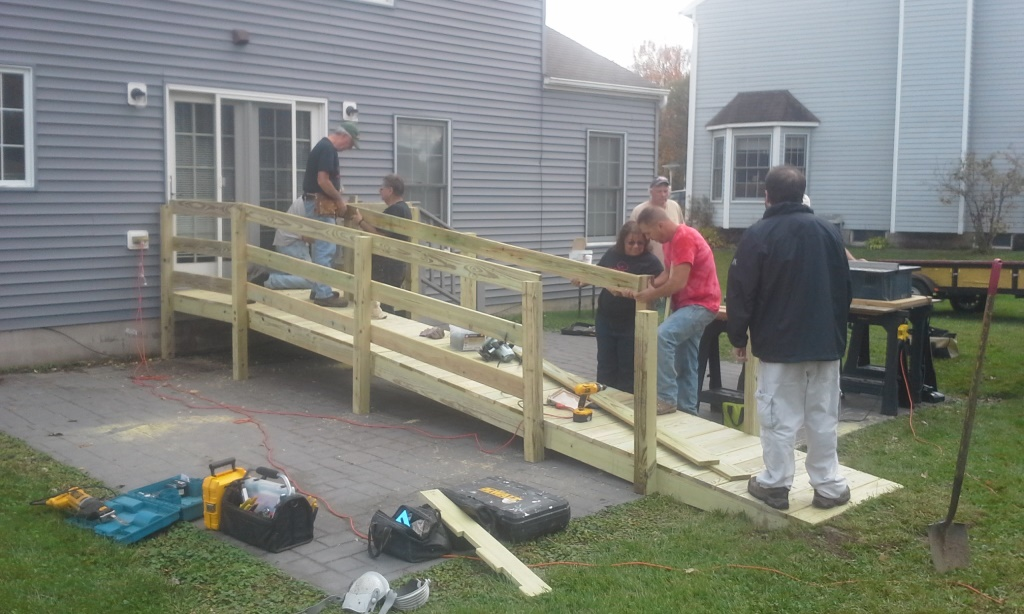 Replacement of an unsafe ramp